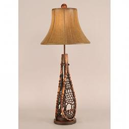Coast Lamp Manufacturer 12-R6B Stained Snow Shoe Buffet Lamp