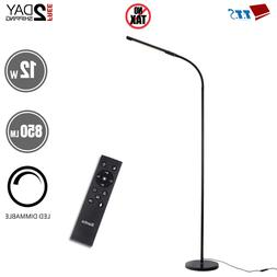 12W 850M Swing Arm Floor Lamp for Living Room with Remote Co