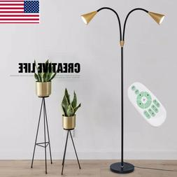 12w Dimmable Floor Lamp 2 Head LED Light Adjustable Arms Wit