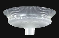 """15 1/2"""" Crystal Etched Rib & Clear Top Torchiere Floor Lamp"""