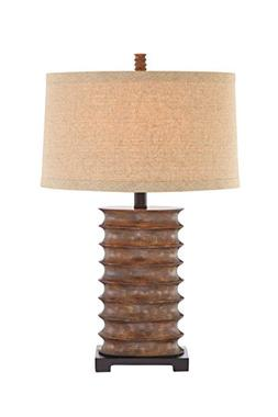 Catalina 19093-000 3-Way 30-Inch Rustic Bronze Table Lamp wi