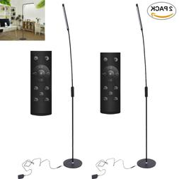 2 Pack Modern Floor Lamp Remote Control Light for Living Roo