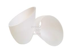 2-Pack Replacement Plastic Lamp Shade for Torchiere Floor La