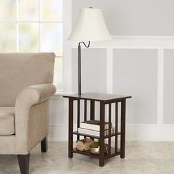 Better Homes and Gardens 3-Rack End Table Floor Lamp, CFL Bu