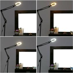 4-In1 LED Magnifying Glass Floor Lamp With Clamp White/Warm