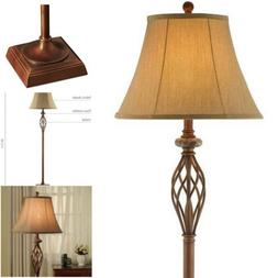 "60.5"" High Floor Lamp Royal Bronze Finish Traditional Iron"
