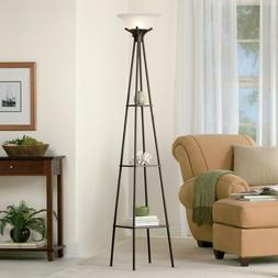 Mainstays Etagere Floor Lamp with CFL Bulb, Charcoal