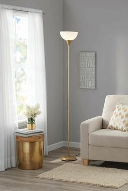 "71"" Metal Floor Lamp for Living Room light Stand Black Brown"