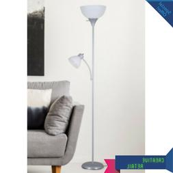 Mainstays 72'' Combo Floor Lamp With Adjustable Reading Lamp