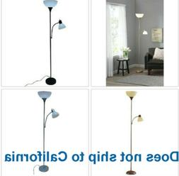 72 inch Metal Floor Lamp with Reading Light for Living Room
