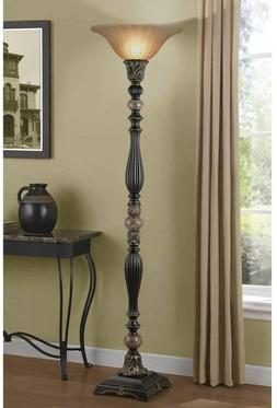 72 rich bronze floor lamp traditional style