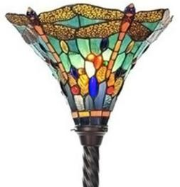 "72"" Tiffany Style Dragonfly Torchiere Lamp Lamps Torch Floor"