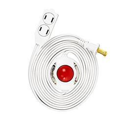 Uninex 9 Ft 3 Outlet Lighted Foot Switch Extension Cord Powe