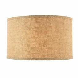 Linen Large Drum Lamp Shade with Spider Assembly - 17-Inches