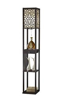 Artiva USA A808101EX Etagere Shelf Floor lamp with Drawer 63