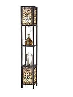 "Artiva USA A808102DEX Infinity Heart Shelf Floor Lamp, 64"","