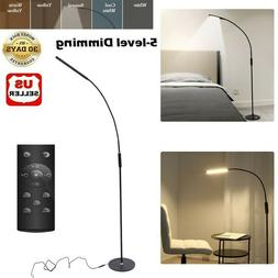 Adjustable Modern LED Floor Lamp Reading Light Dimmable Remo