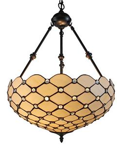 Amora Lighting AM1117HL18 Tiffany Style Ceiling Hanging Pend