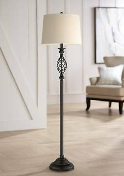 Annie Bronze Finish Iron Scroll Floor Lamp