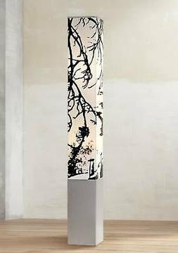 Autumn Branch Square Tower Floor Lamp