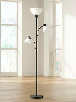 Bingham Black Tree Torchiere 3-Light Floor Lamp