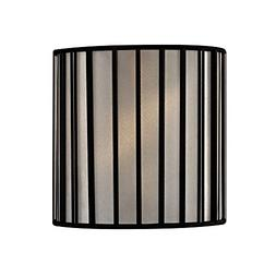 Black Drum Lamp Shade with Uno Assembly