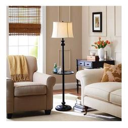 Better Homes and Gardens Black Floor Lamp with Tray, CFL Bul