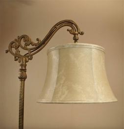 Bridge Floor Lamp Shade Faux Leather for Antique Lamp Tailor