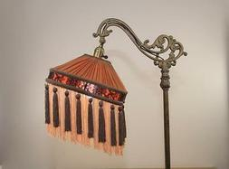 Bridge Floor Lamp Shade Victorian Pleated & Fringed Tailor M