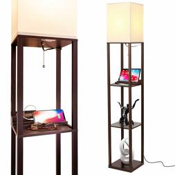 Brightech Maxwell Charging Edition - LED Shelf Floor Lamp fo