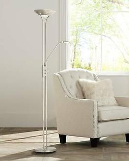 Canby LED Torchiere Floor Lamp with Side Light