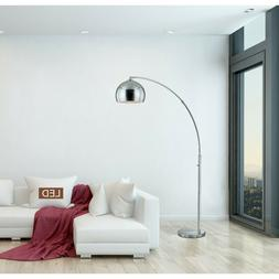 Chrome LED Arched Floor Lamp with Dimmer Large Living Room D