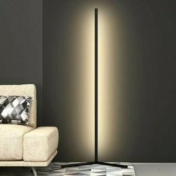 Contemporary Modern LED Corner Floor Lamp - Aluminum - Warm
