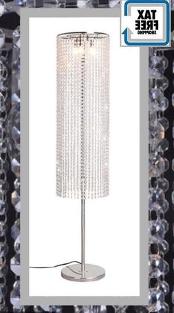 Crystal Floor Lamp Lighing Light Shape Contemporary Raindrop