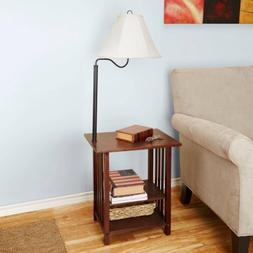 Better Homes and Gardens Dark Oak Magazine Rack End Table Fl