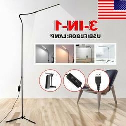Adjustable 3-in-1 LED Floor Lamp Tripod Dimmable Reading Des