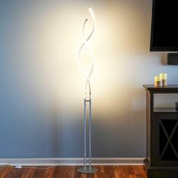 Double Twist Floor Lamp Modern LED Adjustable Light Dimmer M
