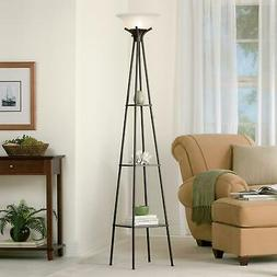 "Mainstays 69"" Etagere Floor Lamp, Charcoal Finish"