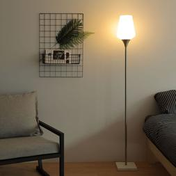 ETL Certificated LED Floor Lamp w/ Real Marble Base in Chrom