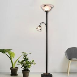 etl listed torchiere floor lamp w side