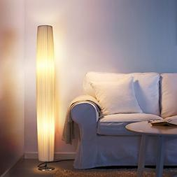 Albrillo LED Floor Lamp with Fabric Shades, 46 Inch Tall Con