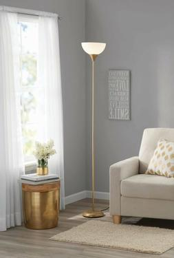 "Floor Lamp 71"" Modern Silver Living Room Night Bedroom Stand"