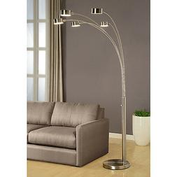 Floor Lamp 88 in. 200-Watt Modern Arched Adjustable Arms Bru