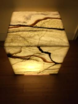 Floor Lamp Authentic Stone Handcarved Onyx/pedestal Square 2