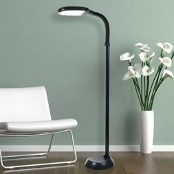 Floor Lamp With Dimmer Switch Control Black LED Sunlight Adj