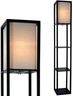 Floor Lamp with Shelves by Light Accents - 3 Shelf Floor Lam