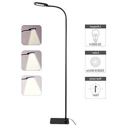 Gooseneck Floor Lamp Dimmable LED Standing Reading Lamps For