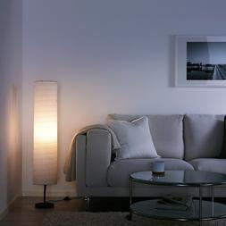 Ikea Holmo Floor Lamp 46-inch White Rice Paper Shade LED Com
