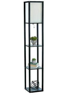 Home Simple Designs Floor Lamp w/ Etagere Organizer Storage