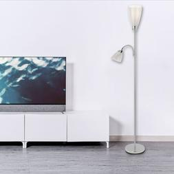 HOT ETL Listed Torchiere Floor Lamp w/ Side Reading Lamp